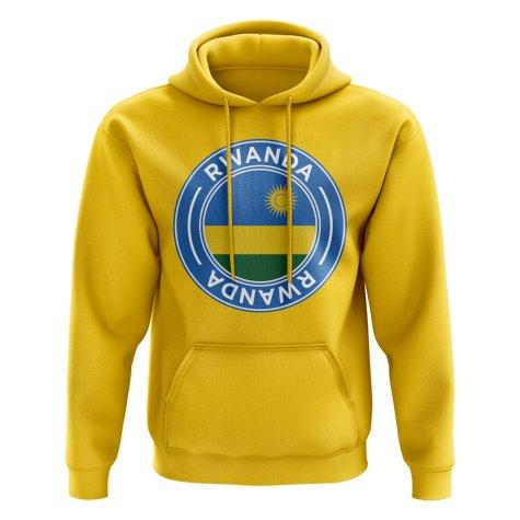 Rwanda Football Badge Hoodie (Yellow)