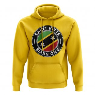 Saint Kitts and Nevis Football Badge Hoodie (Yellow)