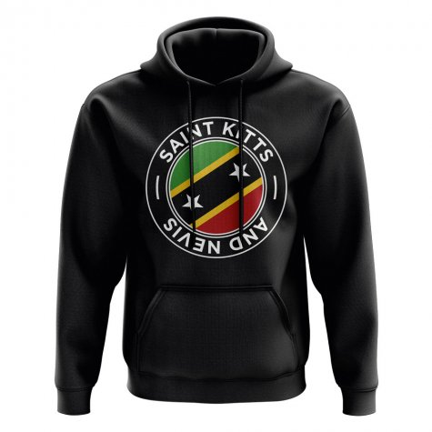 Saint Kitts and Nevis Football Badge Hoodie (Black)