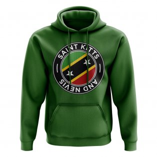 Saint Kitts and Nevis Football Badge Hoodie (Green)