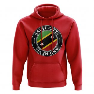Saint Kitts and Nevis Football Badge Hoodie (Red)