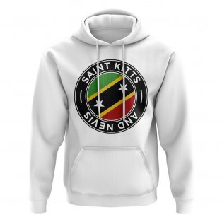 Saint Kitts and Nevis Football Badge Hoodie (White)