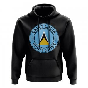 Saint Lucia Football Badge Hoodie (Black)