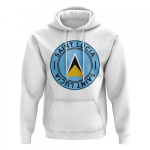 Saint Lucia Football Badge Hoodie (White)