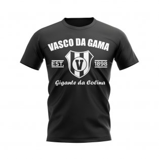 Vasco da Gama Established Football T-Shirt (Black)