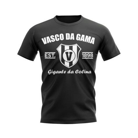 Vasco da Gama Established Football T-Shirt (Black)