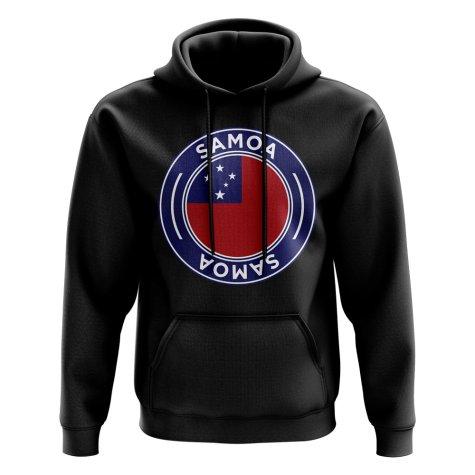 Samoa Football Badge Hoodie (Black)