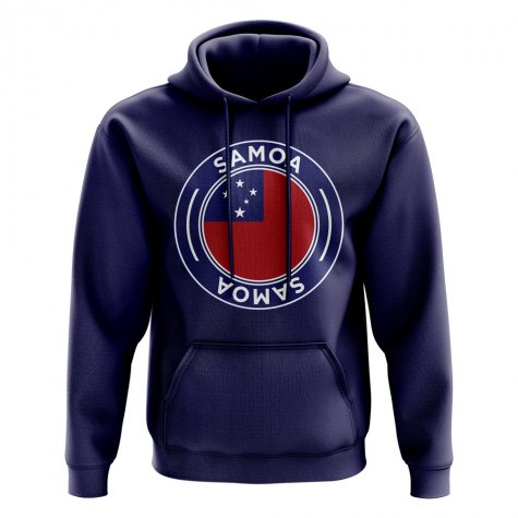 Samoa Football Badge Hoodie (Navy)