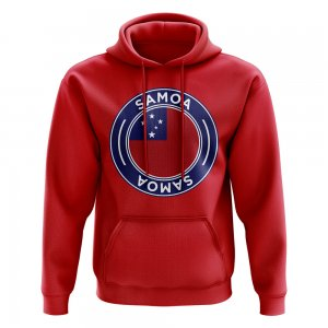 Samoa Football Badge Hoodie (Red)