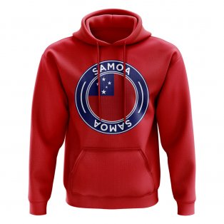 Samoa Football Badge Hoodie (Red)