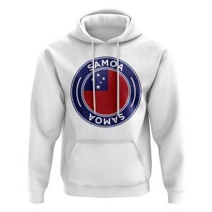 Samoa Football Badge Hoodie (White)