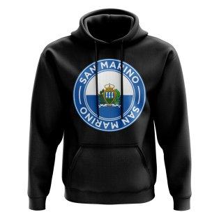San Marino Football Badge Hoodie (Black)