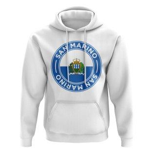 San Marino Football Badge Hoodie (White)