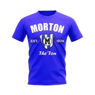 Greenock Morton Established Football T-Shirt (Royal)