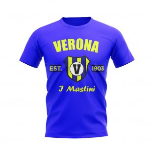 Hellas Verona Established Football T-Shirt (Royal)