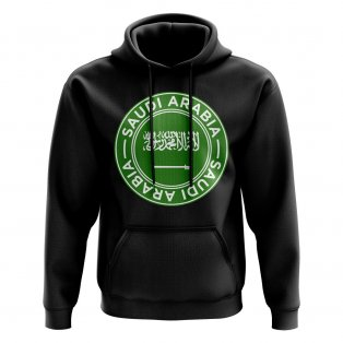 Saudi Arabia Football Badge Hoodie (Black)