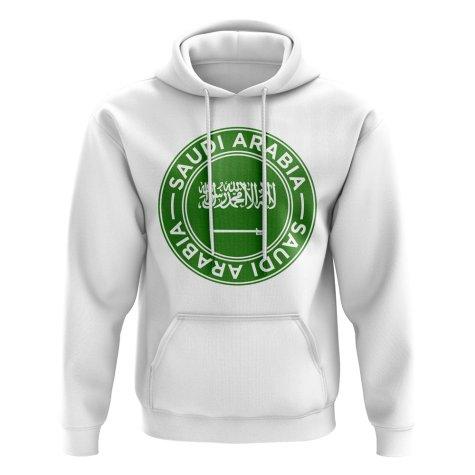 Saudi Arabia Football Badge Hoodie (White)