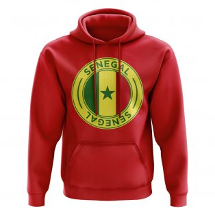 Senegal Football Badge Hoodie (Red)