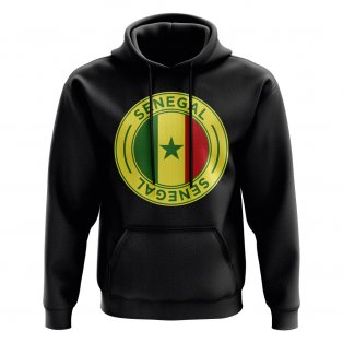 Senegal Football Badge Hoodie (Black)