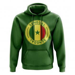 Senegal Football Badge Hoodie (Green)