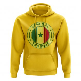 Senegal Football Badge Hoodie (Yellow)