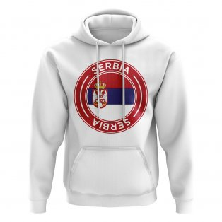 Serbia Football Badge Hoodie (White)