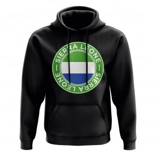 Sierra Leone Football Badge Hoodie (Black)