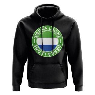 Sierra Leone Football Badge Hoodie (Black)