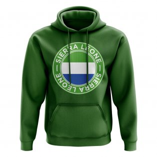 Sierra Leone Football Badge Hoodie (Green)