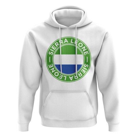 Sierra Leone Football Badge Hoodie (White)