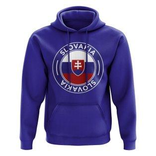 Slovakia Football Badge Hoodie (Royal)