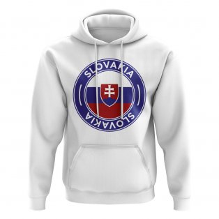 Slovakia Football Badge Hoodie (White)