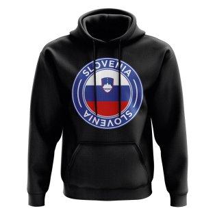 Slovenia Football Badge Hoodie (Black)