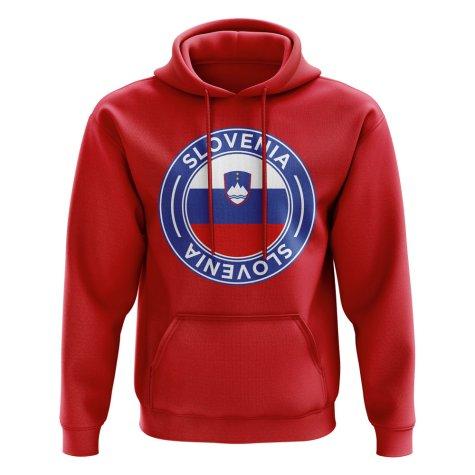 Slovenia Football Badge Hoodie (Red)