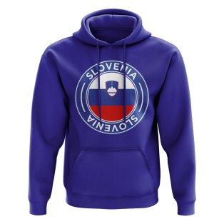 Slovenia Football Badge Hoodie (Royal)