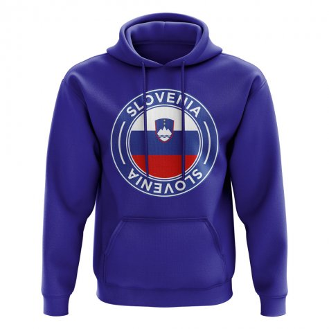 Slovenia Football Badge Hoodie (Royal)