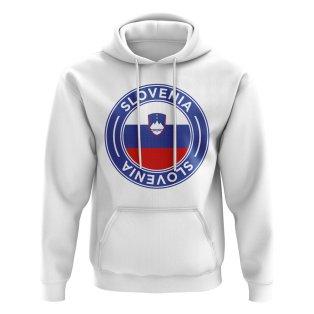 Slovenia Football Badge Hoodie (White)