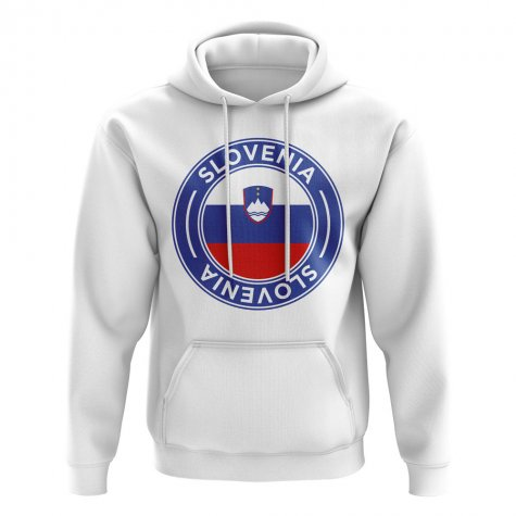 Slovenia Football Badge Hoodie (White)