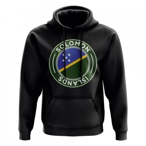 Solomon Islands Football Badge Hoodie (Black)