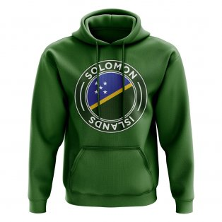 Solomon Islands Football Badge Hoodie (Green)