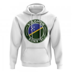 Solomon Islands Football Badge Hoodie (White)