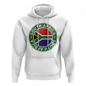 South Africa Football Badge Hoodie (White)