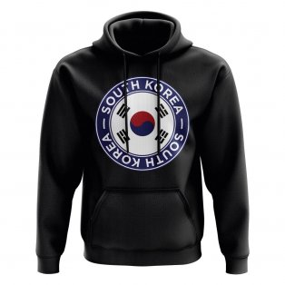 South Korea Football Badge Hoodie (Black)