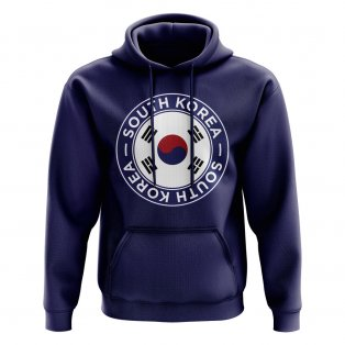 South Korea Football Badge Hoodie (Navy)