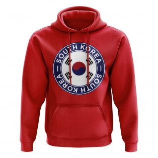 South Korea Football Badge Hoodie (Red)
