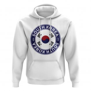 South Korea Football Badge Hoodie (White)