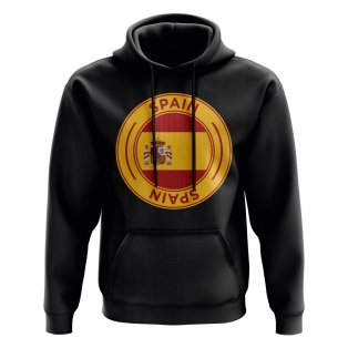 Spain Football Badge Hoodie (Black)