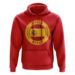 Spain Football Badge Hoodie (Red)