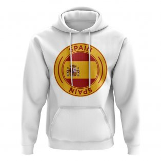 Spain Football Badge Hoodie (White)