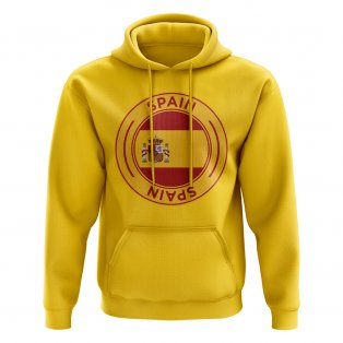 Spain Football Badge Hoodie (Yellow)